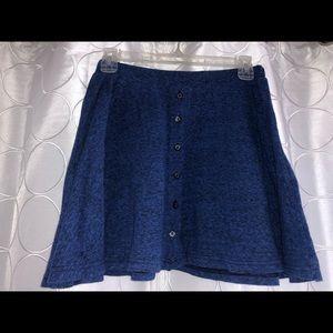 Blue/Black mini skirt